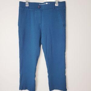 Betabrand Printed Crop Classic Dress Yoga Pants